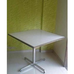 Hotel Table with Tile Top and SS Pipe Border Frame