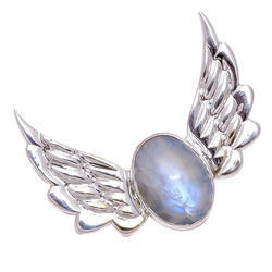 White Rainbow 925 Sterling Silver Pendant