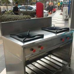 2 Lpg & Png Two Burner Gas Range, For Restaurant