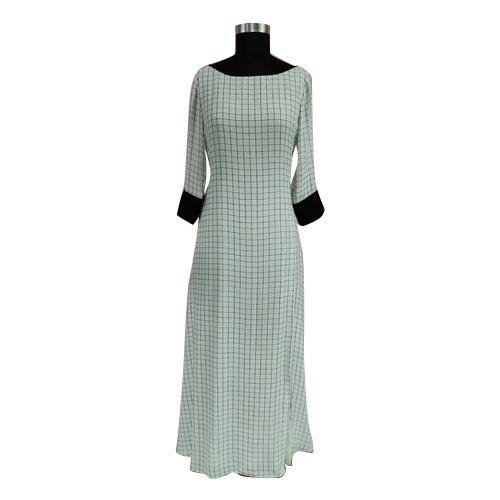 Ladies Round Neck Black And White One Piece Dress 985d177b8