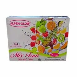 Herbal Ayurvedic ALPEN-GLOW Mix Fruit Facial Kit (500 gm), Packaging Size: 700 gm, Pack Size: 500 gram