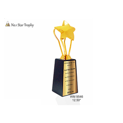 Wooden No 1 Star Trophy