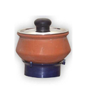 Earthen Curd Pot (with S.s Lid)