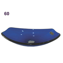 Blue Cut Boat Glass Wash Basin