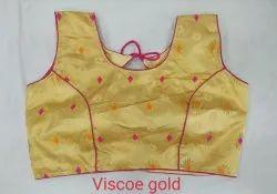 Viscos Gold Designer Blouse