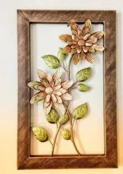 Multicolor Wrought Iron Metal Flower Wall Decore, Size: 23*13 Inch