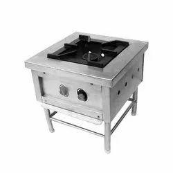 Stainless Steel Single Burner Commercial Cooking Range