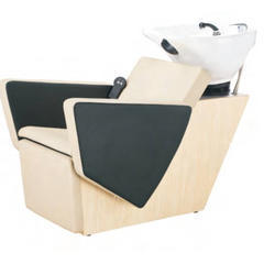 White And Black Synthetic Leather Beauty Parlour Shampoo Chair