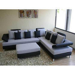 Wood Brown Designer Sofa Set