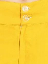 Yellow Rayon Ladies Palazzo Pants