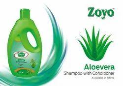 Zoyo Green Aloevera Shampoo, Pack Size: 24, Type Of Packing: 800 Ml