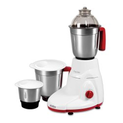 White and Maroon Blender Surya XQUISITE 3 Jar 650 W Mixer Grinder