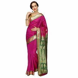Banarasi Silk Party Wear Silk Saree, Without Blouse Piece