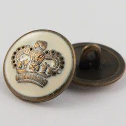 CR Tapes Cream And Golden Designer Button