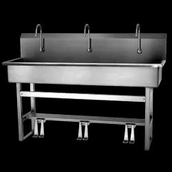 Stainless Steel Foot Operated Commercial Wash Basin