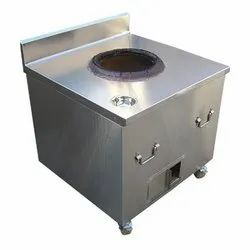 Stainless Steel Square Ss Body Tandoor, For Hotel