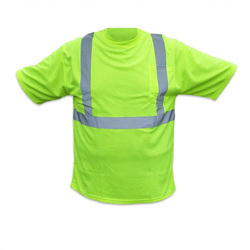 Green Safety T- Shirts