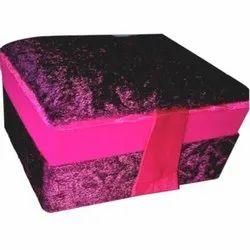 Square Velvet Gift Box, Size: 4x 3.5x 1.5