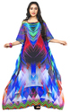 3D Printed Georgette Party Wear Beach Kaftan 2018
