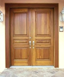 Teak Wooden Entrance Double Door