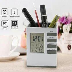 Clock Pen Holder