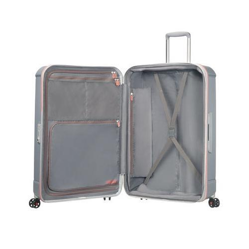 74cec8419 American Tourister Technum 28 Inch Spinner Luggage Bag (Grey/Red ...