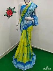 Bagru Print Shibori  Cotton Saree