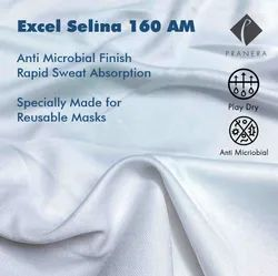 Micro Polyester Interlock Fabric with Anti Microbial Finish For Masks