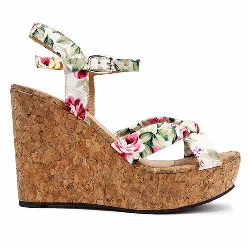 Flower cloth white wedges sandal at rs 420 pair wedge sandals flower cloth white wedges sandal mightylinksfo