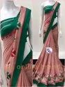 Cotton Patch Work Saree With Blouse