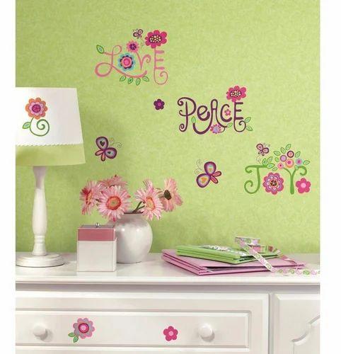 asian paints nilaya love, joy, peace wall stickers, दीवार के