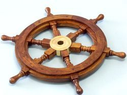 Cheap Wooden Custom Style Design Nautical Wheel