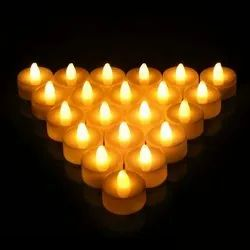 Yellow LED Tea Light Candle, For Decoration