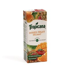 200ml Tropicana Mixed Fruit Delight Juice, Packaging Type: Tetra Pack