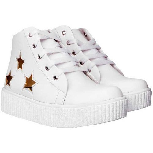Girls Casual Wear White Sneakers Shoes