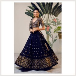 Party Wear Embroidery Designer Silk Lehenga Choli 2.5 Meter