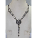 Traditional Design Pipe Antique Silver Tribal Necklace