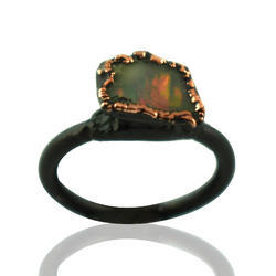 Fire Opal Gemstone Rings