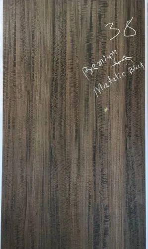 Premium Metallic Black Wood Veneer
