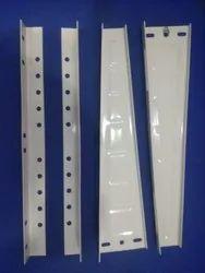 White Powder Coated Mild Steel AC mounting bracket, For Commercial, Powder Coating