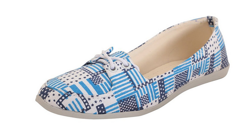 Blue Colour Girls Casual Footwear Flat Form Shoes Casual Joote