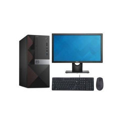 Black Dell Vostro Desktop Computer