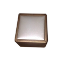 Wooden, Glass Pearl Antique Leathrite Wooden Box, Size: 8