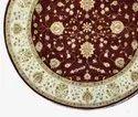 Handmade Persian Wool Chobi Round Rugs and Carpets
