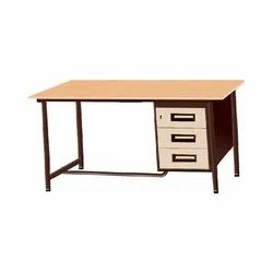 Shree Brown Iron Office Table, Warranty: 1 Year, Size: Customized 4x2size