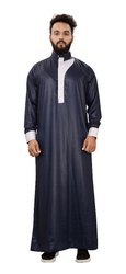 Met Blue Color Premium Imported Quality Polyester Kurtas Jubba Thobe For Men