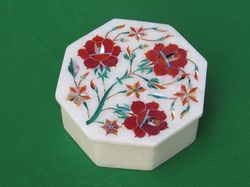 High Quality Handicraft Marble Inlay Box