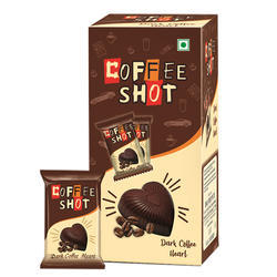 Heart Shape Dark Coffee Shots Chocolate, Pack Size: 500 g