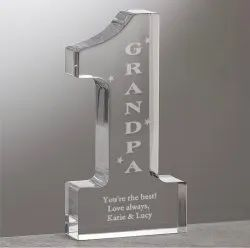 Personalised Crystal Engraved Award