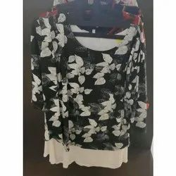 3/4th Sleeve Girls Printed Cotton Top